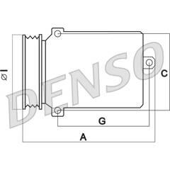 Compresseur de climatisation DENSO - DCP05032