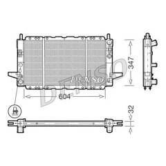 Radiator, engine cooling DENSO - DRM10086