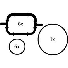 Gasket Set, intake manifold ELRING - 228.690