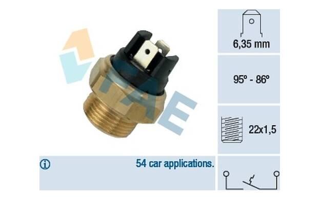 Temperature Switch, radiator fan