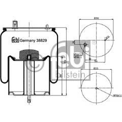 Soufflet à air (suspension pneumatique) FEBI BILSTEIN - 38829