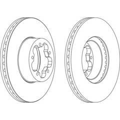 Brake disc set (2) FERODO - DDF1555