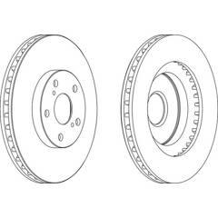 Brake disc set (2) FERODO - DDF1646