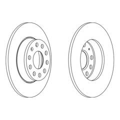 Brake disc set (2) FERODO - DDF1895
