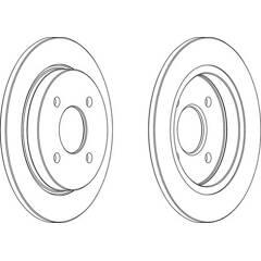 Brake disc set (2) FERODO - DDF281