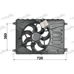 Ventilateur (refroidissement moteur) FRIGAIR - 0501.2001