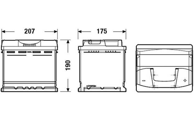 Batterie de démarrage 50ah / 450A