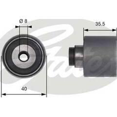 Galet enrouleur (courroie de distribution) GATES - T41229
