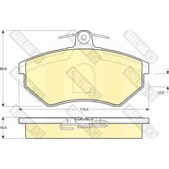 Front brake pad set (4 pcs) GIRLING - 6110441