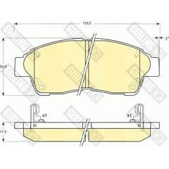 Front brake pad set (4 pcs) GIRLING - 6132079
