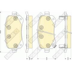 Rear brake pad set (4 pcs) GIRLING - 6141761