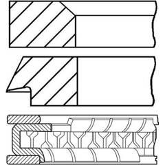 Jeu de segments de pistons GOETZE ENGINE - 08-151200-00