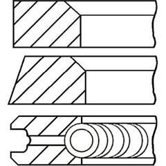 Jeu de segments de pistons GOETZE ENGINE - 08-322400-00