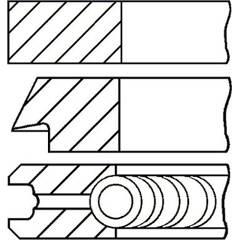 Jeu de segments de pistons GOETZE ENGINE - 08-432200-00