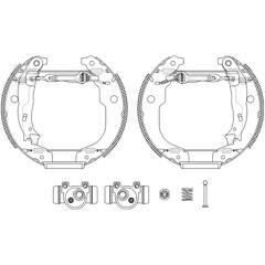 Brake Set, drum brakes HELLA - 8DB 355 022-951