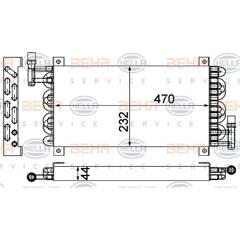 Fuel radiator HELLA - 8MK 376 993-001