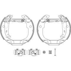 Kit de freins arrière (prémontés) HELLA - 8DB 355 022-951