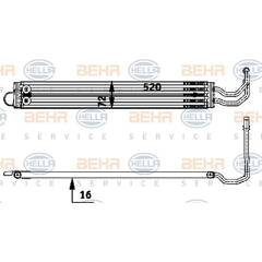 Oil Cooler, steering system HELLA - 8MO 376 726-341