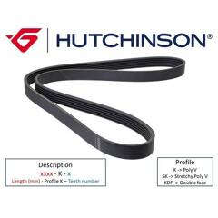 V Ribbed Drive Belts HUTCHINSON - 1460 K 6