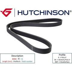 V Ribbed Drive Belts HUTCHINSON - 995 K 4