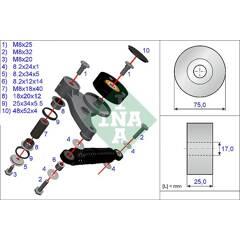 Kit de réparation (bras de serrage - courroie trapézoïdale) INA - 533 0118 10