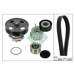 Water Pump + V-Ribbed Belt Kit INA - 529 0040 30