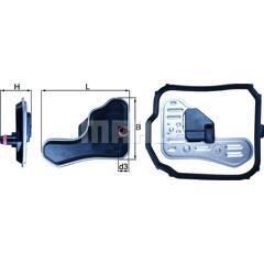 Filtre hydraulique (transmission auto) KNECHT - HX 148D