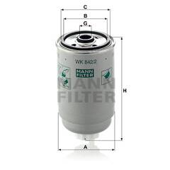 Filtre à carburant MANN-FILTER - WK 842/2