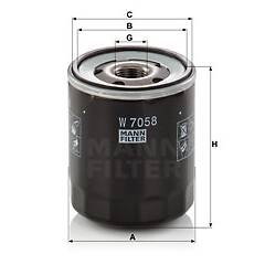 Filtre à huile MANN-FILTER - W 7058