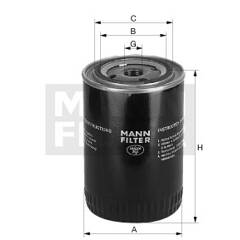 Filtre de liquide de refroidissement MANN-FILTER - WA 956/2