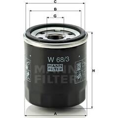 Oliefilter MANN-FILTER - W 68/3