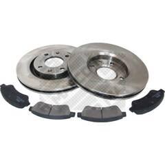 Kit disques et plaquettes de frein MAPCO - 47455
