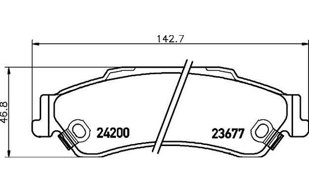 Mintex MDB2299 Lot de plaquettes de frein disque de frein arrière