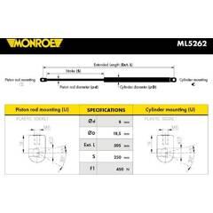 Vérin de capot MONROE - ML5262