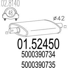 Middle Silencer MTS - 01.52450