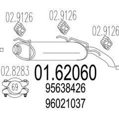 Silencieux arrière MTS - 01.62060