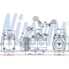 Nissens 89070 compresseur climatisation