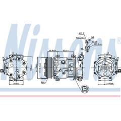 Compresseur de climatisation NISSENS - 89067