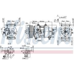 Compresseur de climatisation NISSENS - 89201