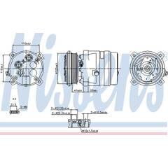 Compresseur de climatisation NISSENS - 89259