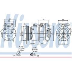 Compressor, air conditioning NISSENS - 89292