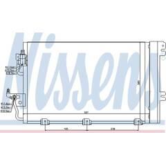Condensator, airconditioning NISSENS - 94767