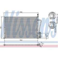 Condenser, air conditioning NISSENS - 94587