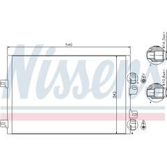 Condenseur de climatisation NISSENS - 94745