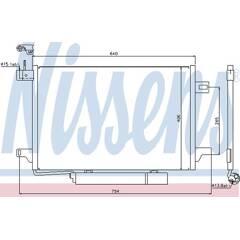 Condenseur de climatisation NISSENS - 94910