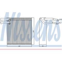 Evaporateur de climatisation NISSENS - 92188
