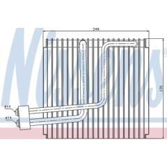 Evaporator, air conditioning NISSENS - 92265