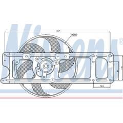 Fan, radiator NISSENS - 85253