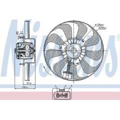 Fan, radiator NISSENS - 85684