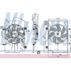 Fan, radiator NISSENS - 85768
